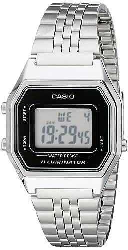 Casio LA680WA-1D - Reloj digital de cuarzo para mujer, correa de acero inoxidable