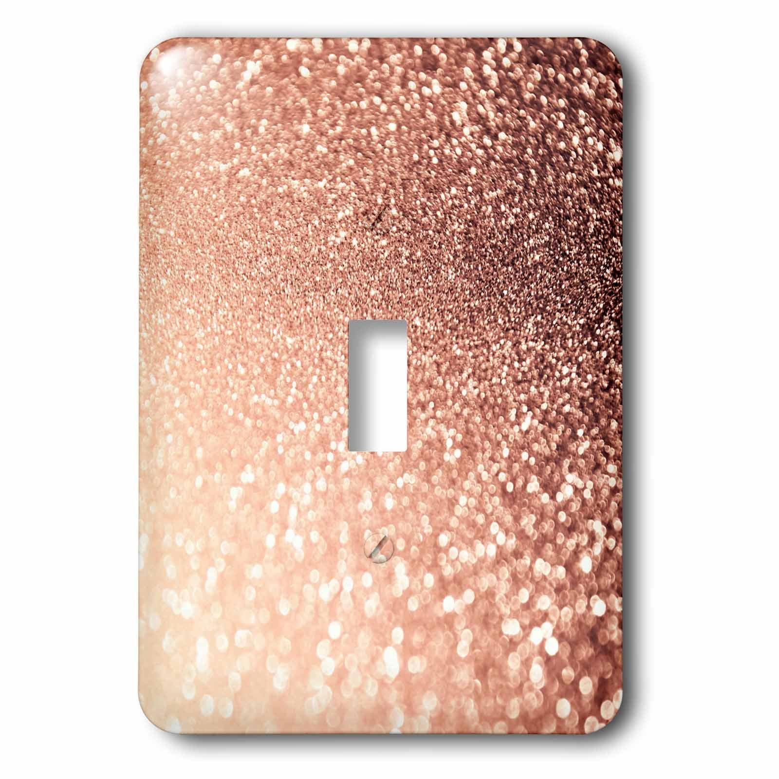 3dRose LSP_268842_1 Luxury Sparkle Copper Gold Metallic Faux Glitter Print Toggle Switch,