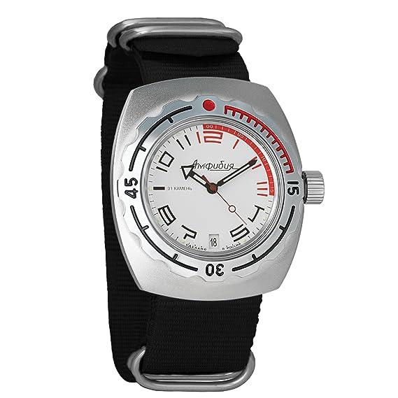 VOSTOK 09472 WR - Reloj de pulsera (fibra de carbono, 200 m, 1967