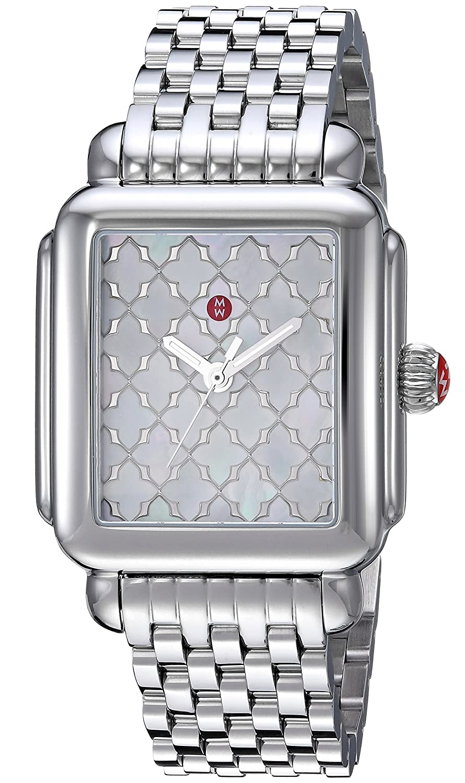 3090a0ff85e Amazon.com  MICHELE Women s MWW06T000175 Analog Display Swiss Quartz Silver  Watch  Watches