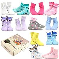 TeeHee (Naartjie) Kids Girls Cotton Fashion Crew Socks 12 Pair Pack