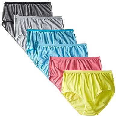 Fruit of the Loom Women's 6 Pack Beyond Soft Brief Panties, Assorted, 10
