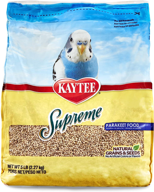 Kaytee Supreme Bird Food For Parakeets, 5-Lb Bag