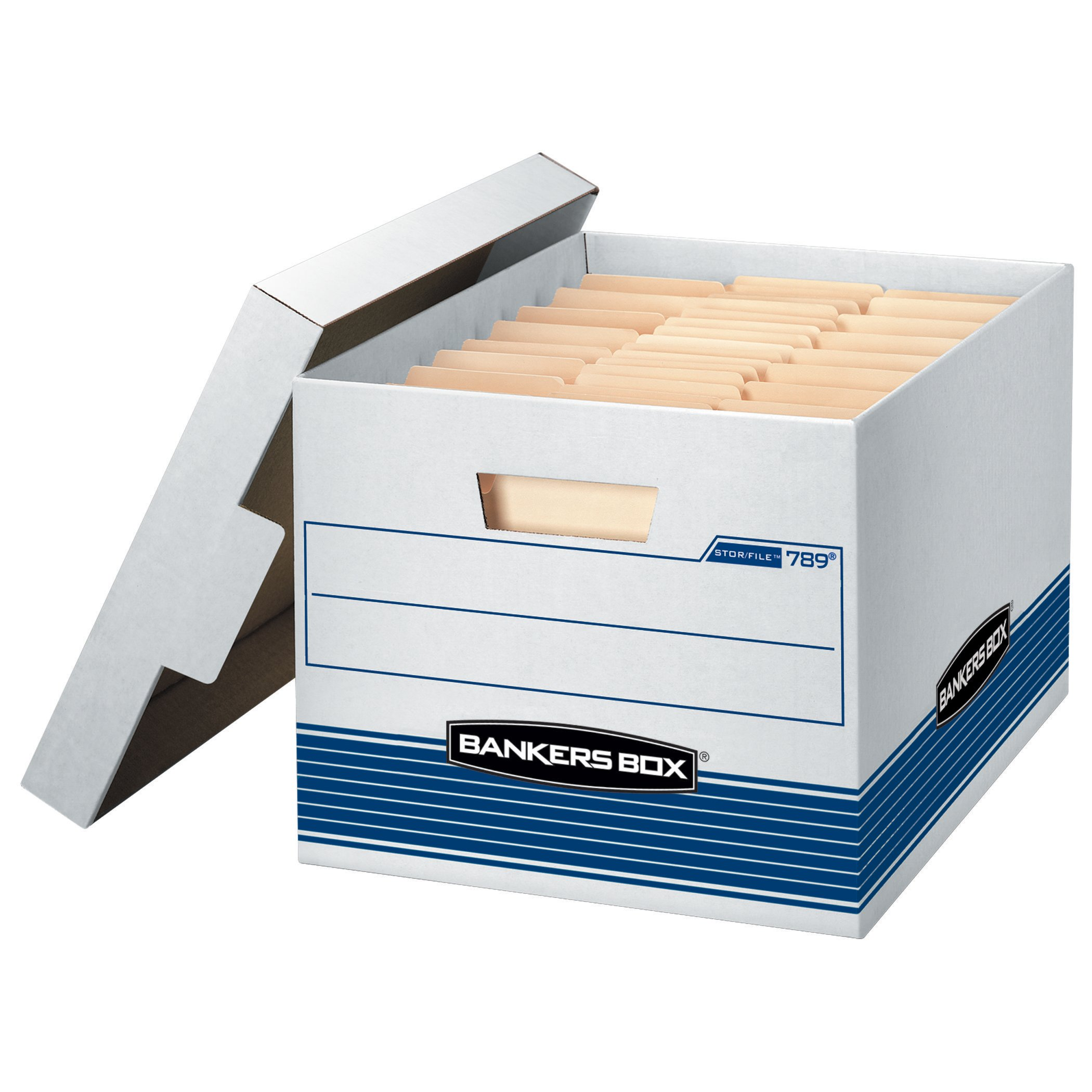 Bankers Box Stor/File Medium-Duty Storage Boxes, Letter/Legal, 12 Pack (00789)