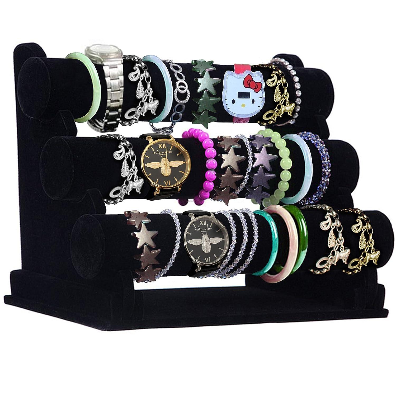 3 Rollen Samt Uhren Schmuckständer Uhrenhalter Verkausständer Armbandständer
