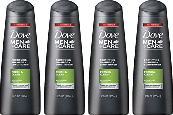 4-Count Dove Men+Care 2-in-1 Shampoo & Conditioner 12 Oz