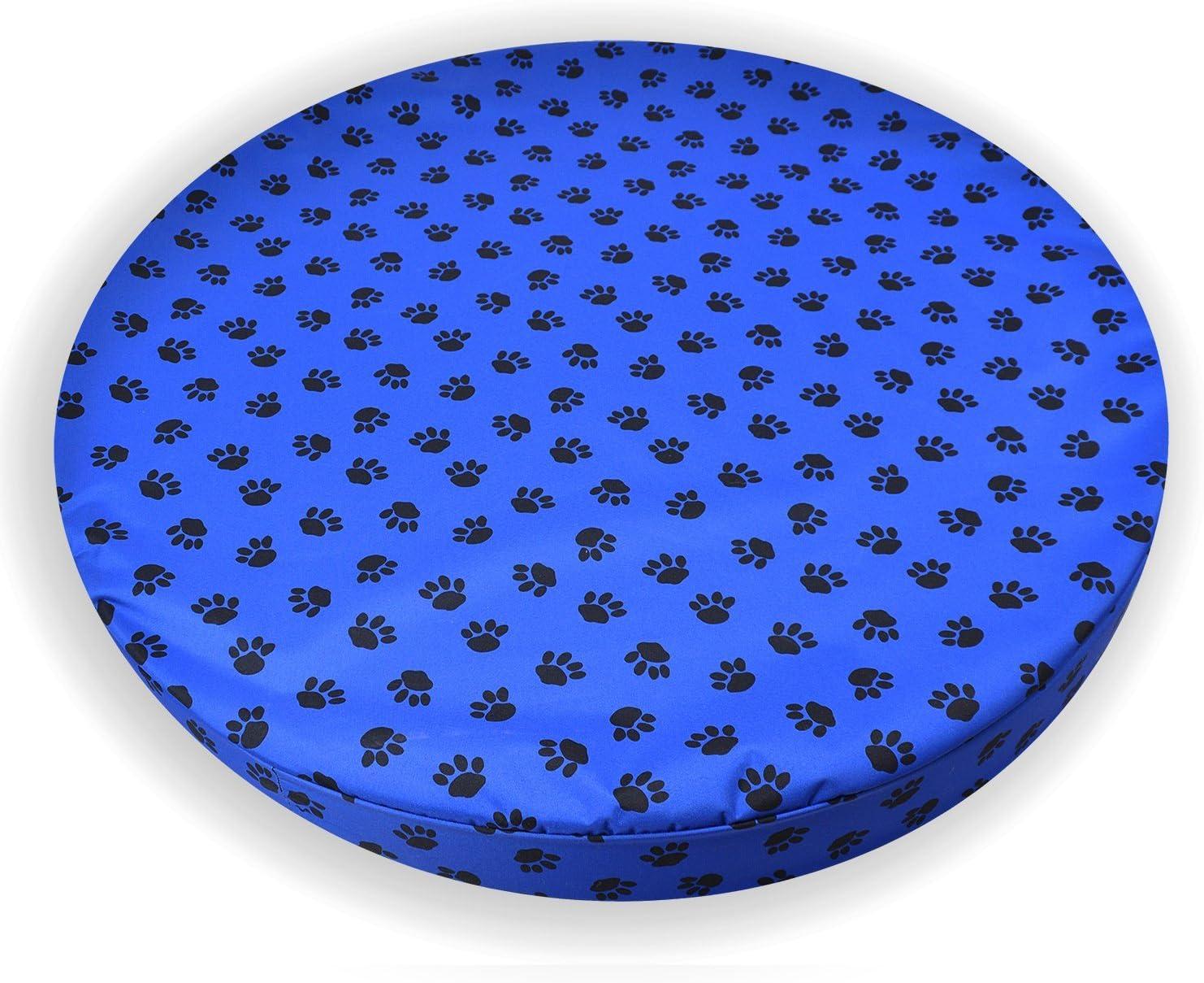 Paws - Pet Beds Direct Azul Patas–ortopédica de Espuma con Efecto Memoria para Perro Impermeable Cama