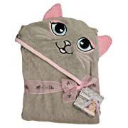 Extra Large 40 x30  Hooded Towel for Babies, Infants, Toddlers, Kids, Grey Cat