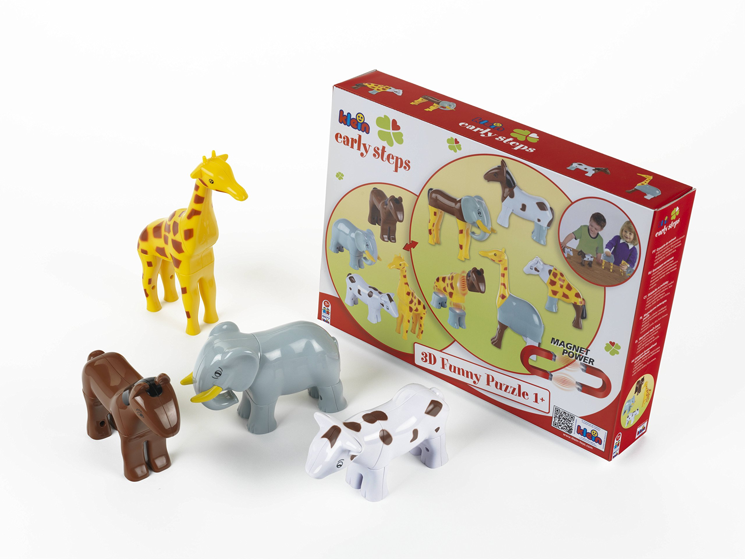Theo Klein 0077 - Funny Puzzle Magnetic Animals with 4 Animals