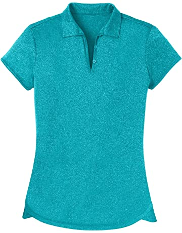 719fdcde Opna Women's Ladies Moisture Wicking Athletic Golf Polo Shirts Tops & Tees