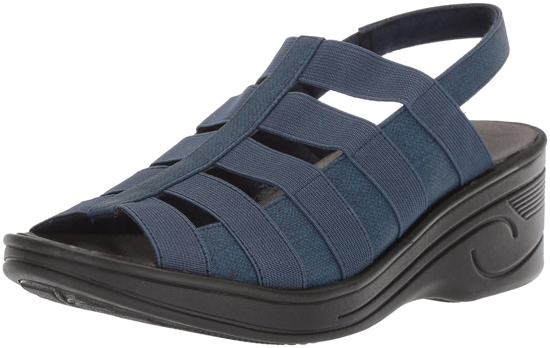 Easy Street Women's Floaty Wedge Sandal B077ZL6T1V 7.5 N US|Denim/Gore