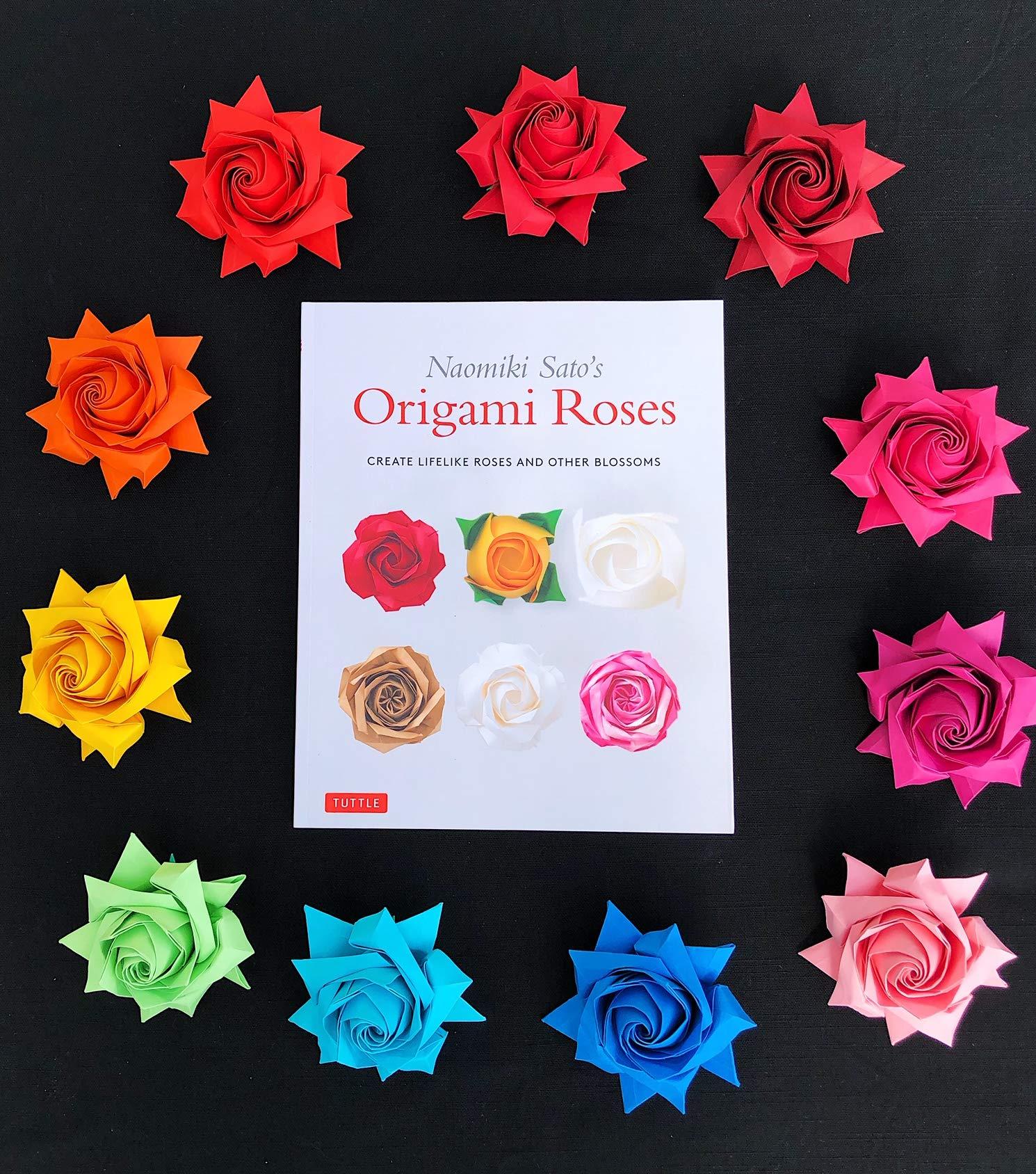 How to DIY Pretty Origami Rose | iCreativeIdeas.com | 1688x1490
