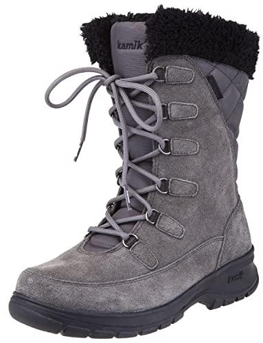 Kamik Women's Boston2 Snow Boot, Black, 10 M US