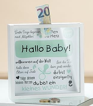 Gilde Mdf Spardose Hallo Baby Mit Sichtfenster 43457 Amazonde