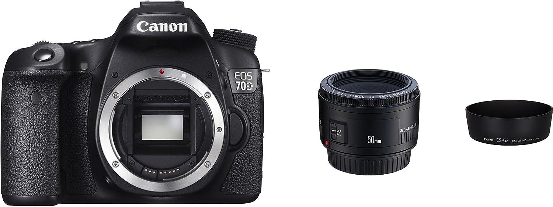 Canon 8469b213 EOS 70d con EF 50 mm f/1.8 II y ES-62 Parasol W ...