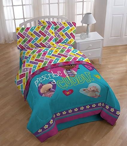 4pc Disney Doc McStuffins Twin Bedding Set Doctor Prescribe Cuddles  Comforter And Sheet Set