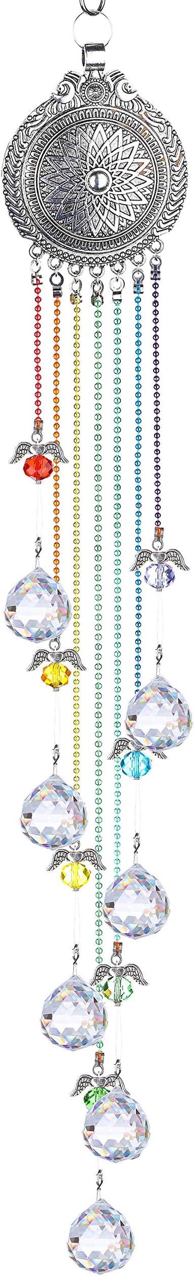 H/&D HYALINE /& DORA Crystal Rainbow Suncatcher Hanging Half Moon Ornament for Home Garden Decoration Glass Ball Prism Pendant