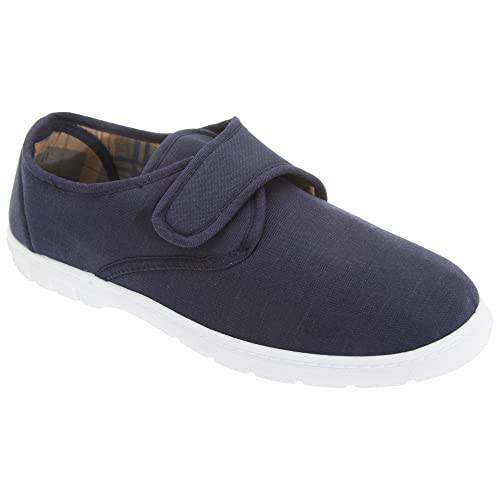 Gordini Mens Touch Fastening Casual Textile Shoes (7 US) (Navy Blue Denim)
