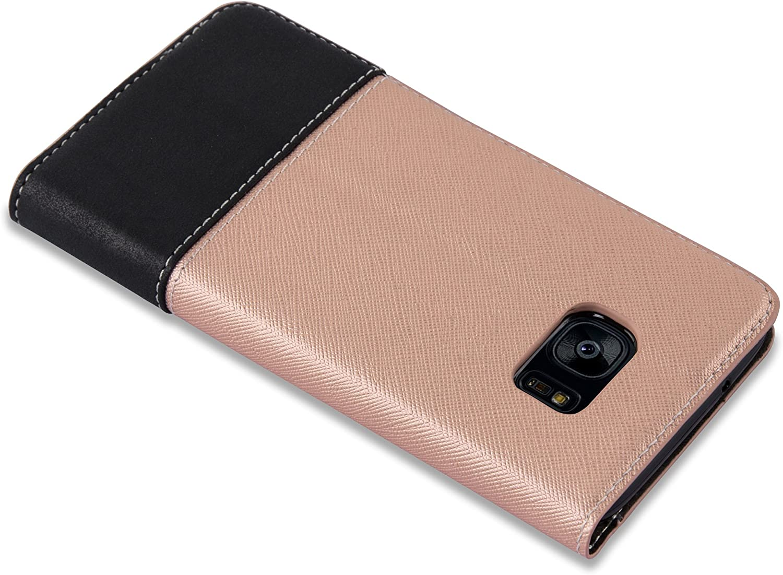 Etui Case Cover Carcasa Cadorabo Funda Libro para Samsung Galaxy S7 Edge en Azul MARR/ÓN Tarjetero y Funci/ón de Suporte Cubierta Protecc/íon con Cierre Magn/ético