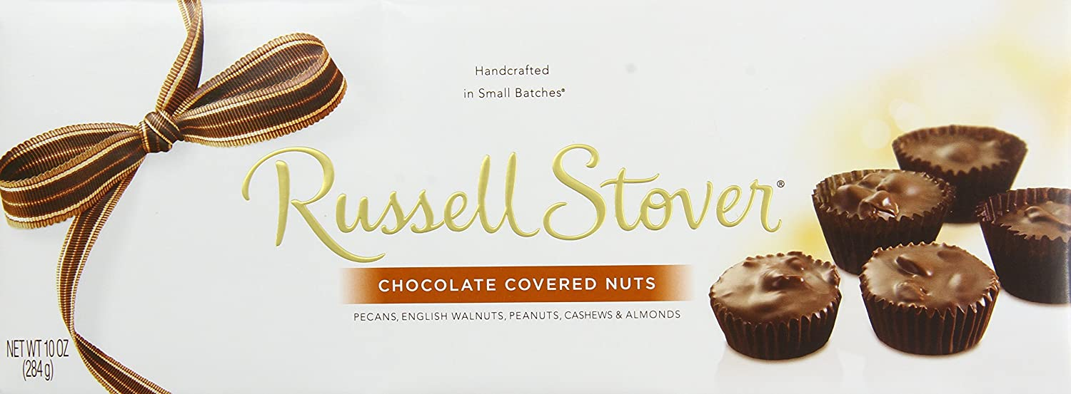 Amazon.com : Russell Stover Chocolate Covered Nuts, 10-Ounce Boxes ...