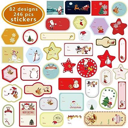 Christmas Labels.Amazon Com Christmas Decorative Presents Labels 246
