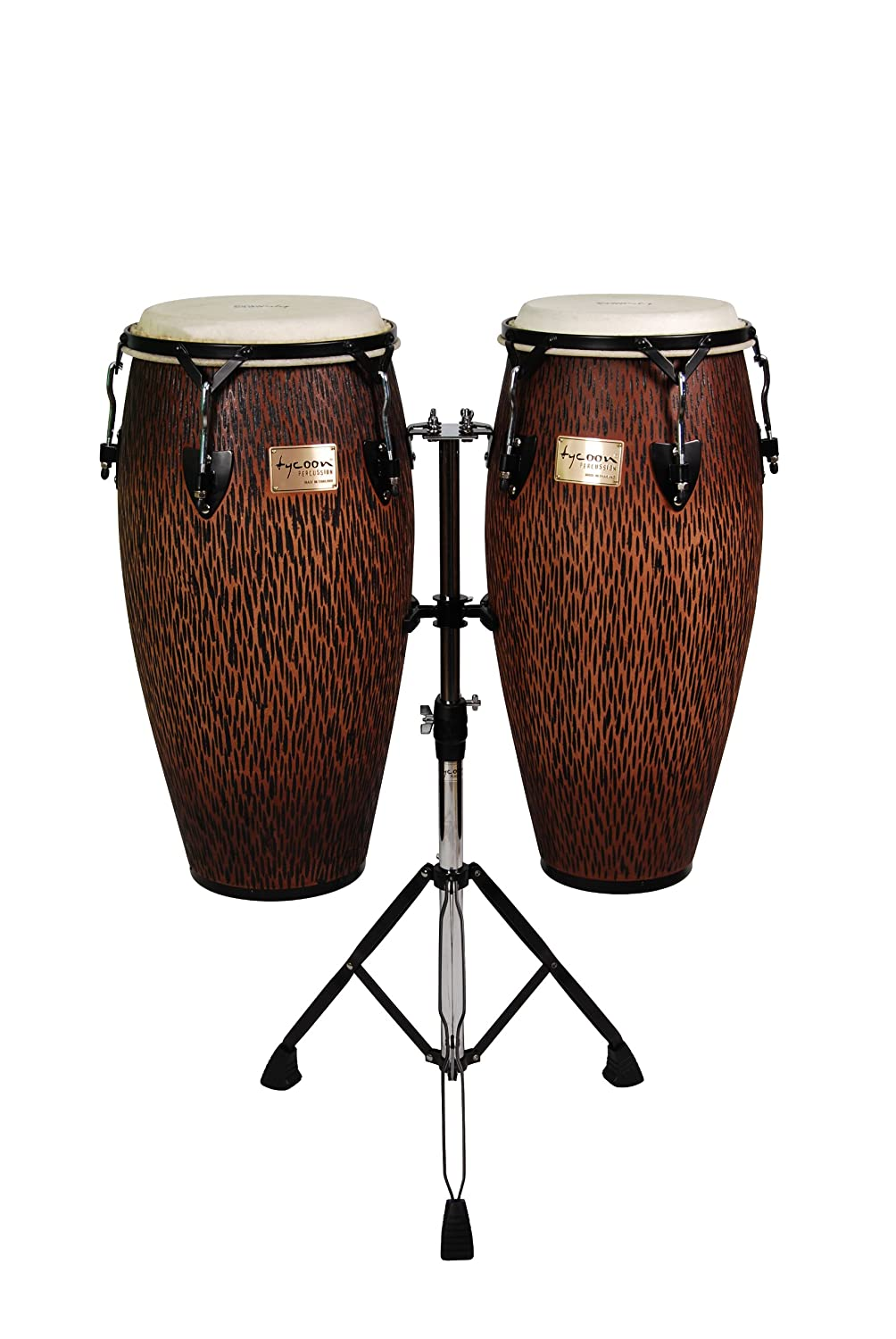 Tycoon Percussion STCS-B CO/D 10-Inch Requinto and 11-Inch Quinto Conga Drum - Chiseled Orange
