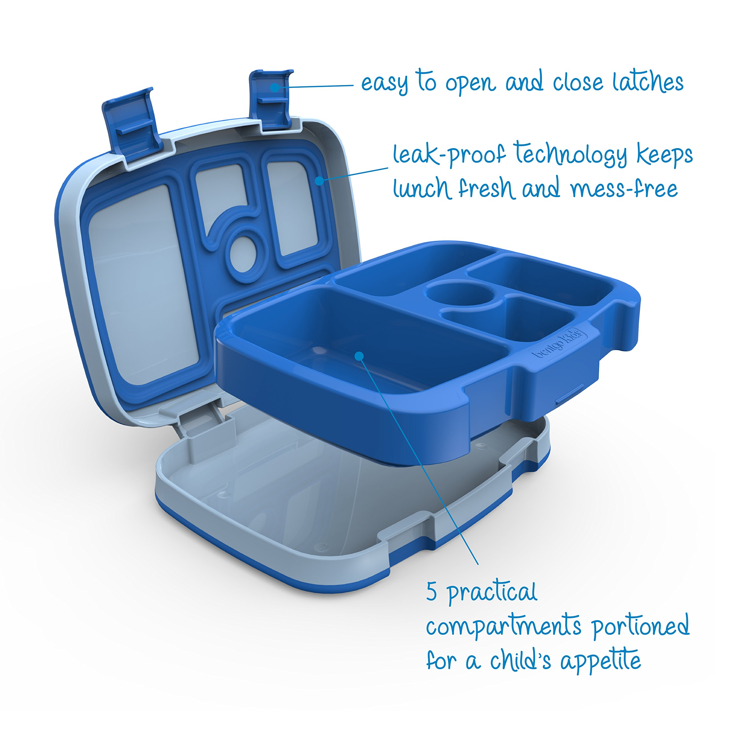 Bentgo Kids Childrens Lunch Box - Bento-Styled Lunch Solution Offers Durable, Leak-Proof, On-the-Go Meal and Snack Packing by Bentgo (Image #4)