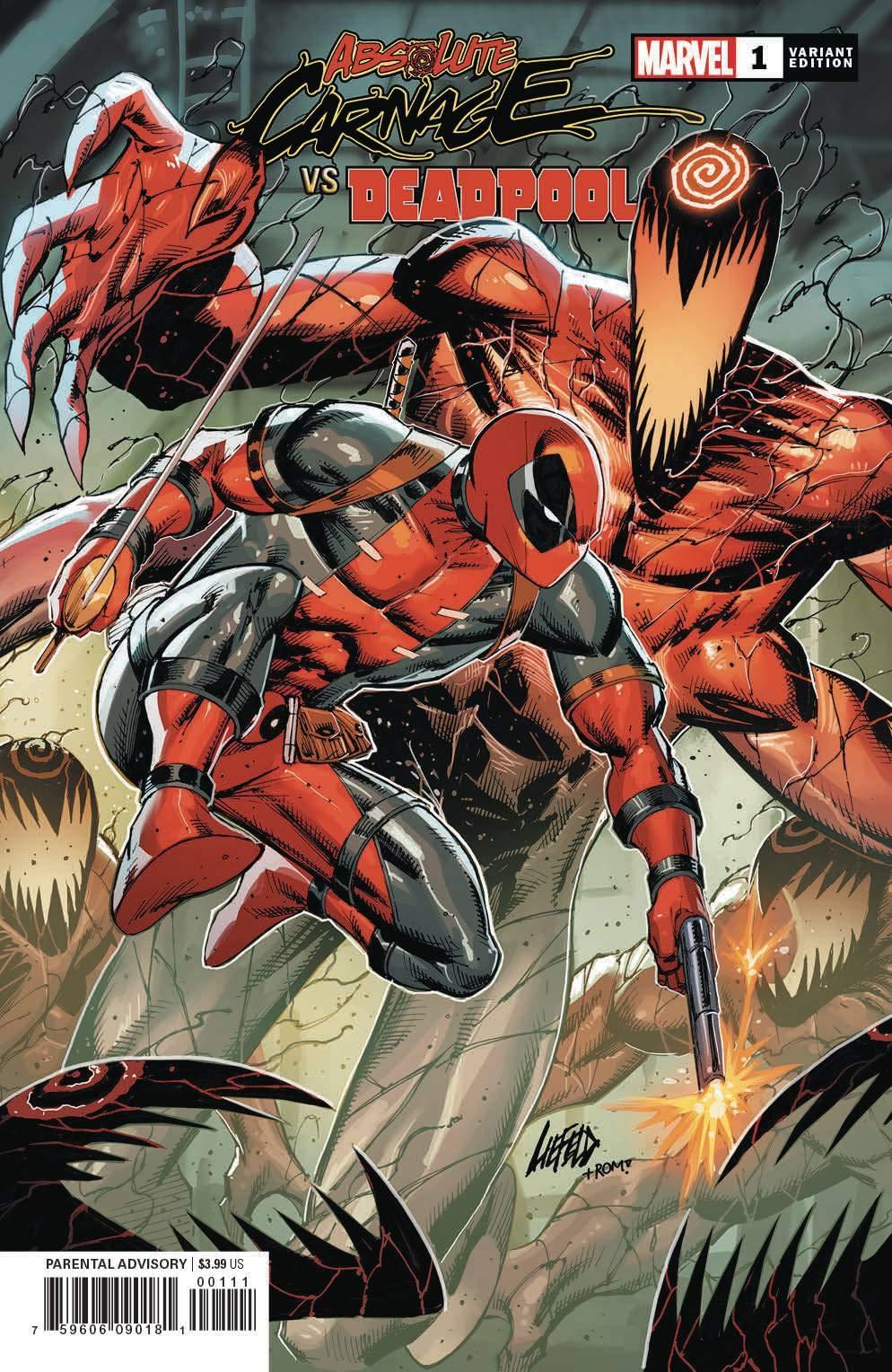 Absolute Carnage vs Deadpool #1 Marvel Comics 2019 Liefeld Variant of 3