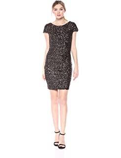 a6a685849d1 Dress the Population Women s Lola Long Sleeve Sequin Dress at Amazon ...
