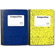 Norcom Wide Ruled 100 Sheets Composition Notebooks - Random Colors Chosen (Pack of 2)