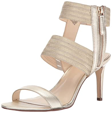 fe9687321b2f Nine West Women s Ilyse Sandal Light Gold Fabric