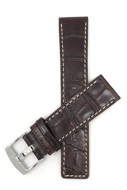 22 mm 30 mmに、ステッチ本革時計バンドストラップ、ホワイト、Comes inブラック、ブラウン、タン、完璧な交換用バンド特定のモデルからディーゼル、市民、化石、ハミルトンとより多く 30MM|ブラウン ブラウン 30MM B01JFTC7OI
