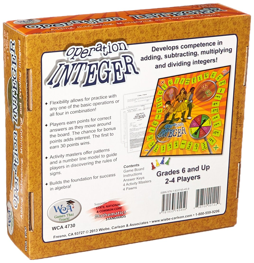 Amazon Learning Advantage 4730 Operation Integer Game Grade 6
