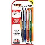BIC Atlantis Original Retractable Ball Pens Medium Point (1.0 mm) - Assorted Colours, Pack of 4