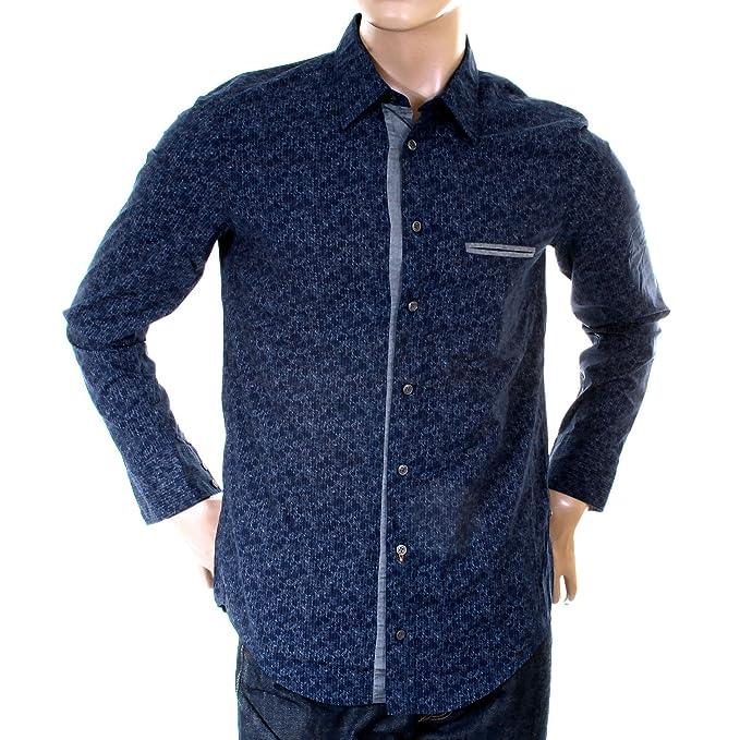 Hugo Boss Naranja Etiqueta para Hombre Royal Azul 502226642 cielcebu Camiseta boss1547
