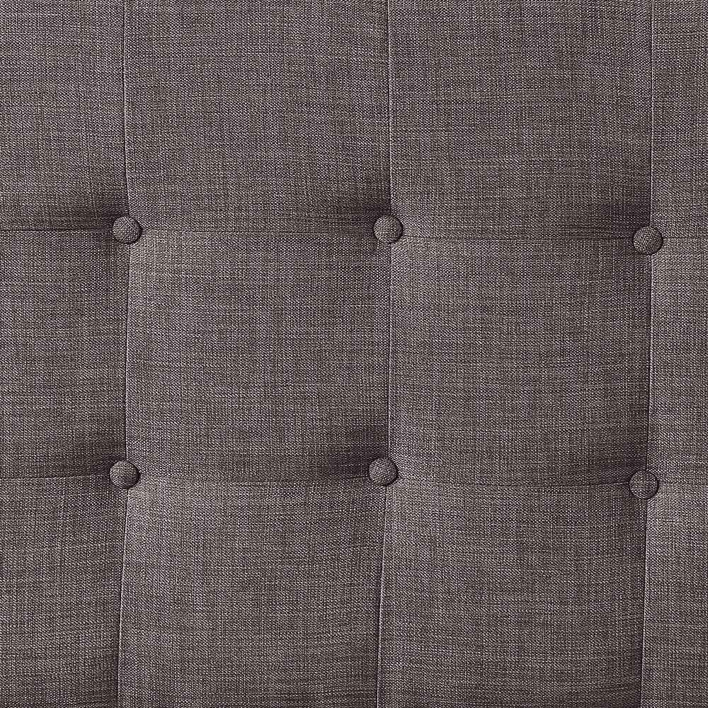Dark Grey HOME BI Upholstered Tufted Button Linen Fabric Headboard Full//Queen Size
