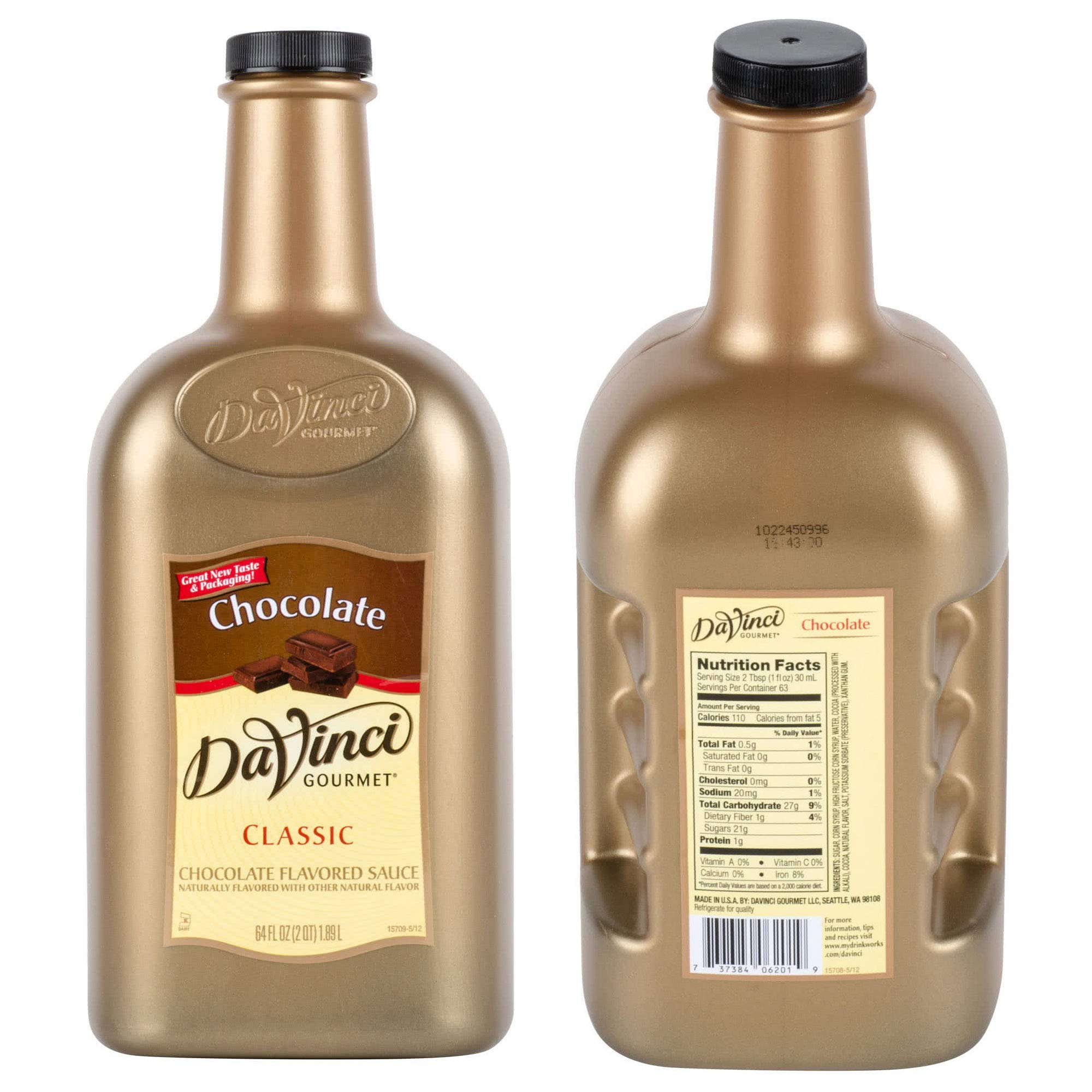 BWS 6 Bottles 64-Ounce DaVinci Gourmet Chocolate Flavoring Sauces by Bulk Wholesale Supplies  (Image #1)