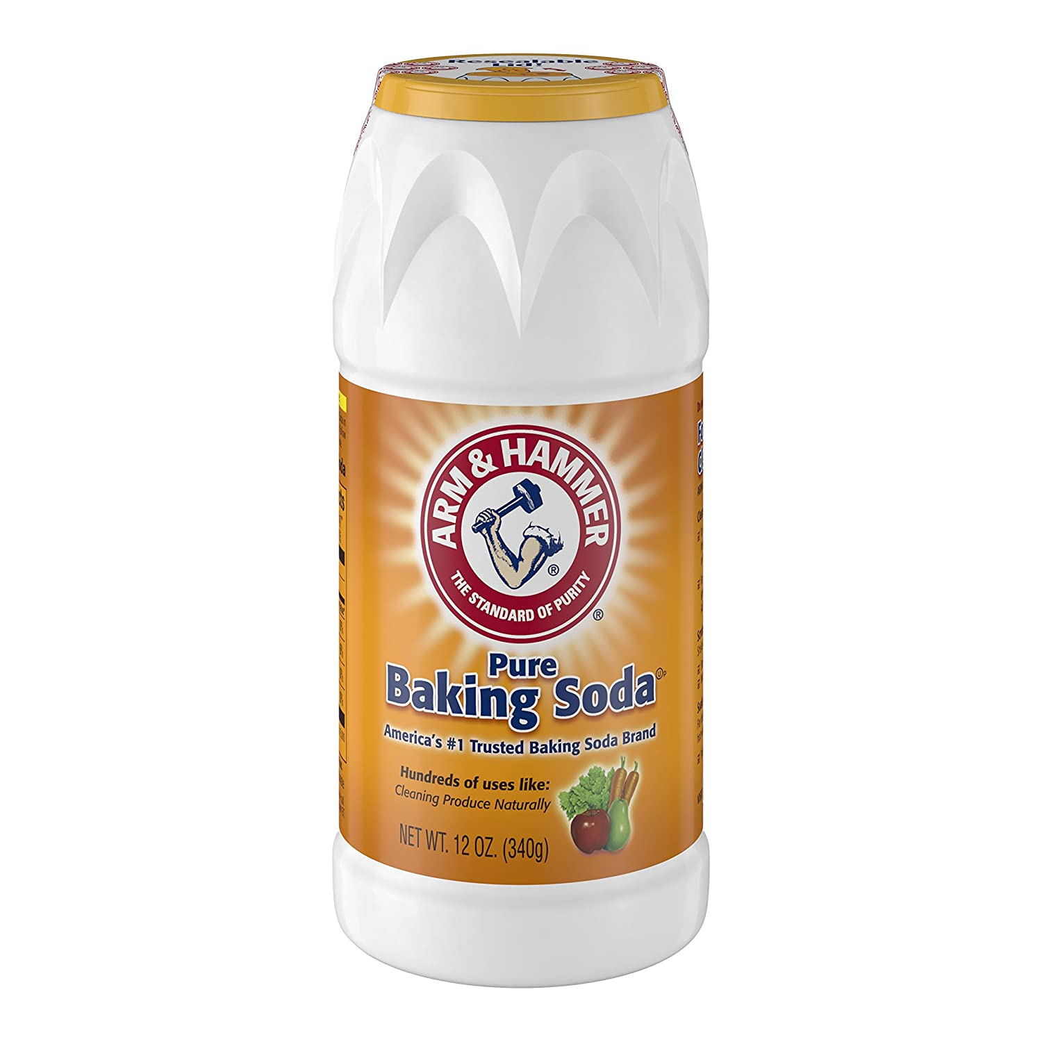 Arm & Hammer 33200-01670 Baking Soda Shaker, 12 oz., (Pack of 12)