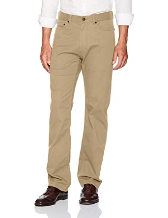 003110bffbe Haggar Men s Stretch Comfort Twill Expandable Waist 5-Pocket Relaxed ...