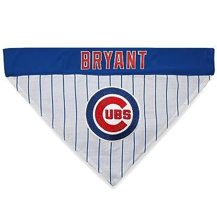 5a46d97cb80 MLBPA Reversible Dog Bandana - Kris Bryant  17 Pet Bandana - MLB Chicago  Cubs Home