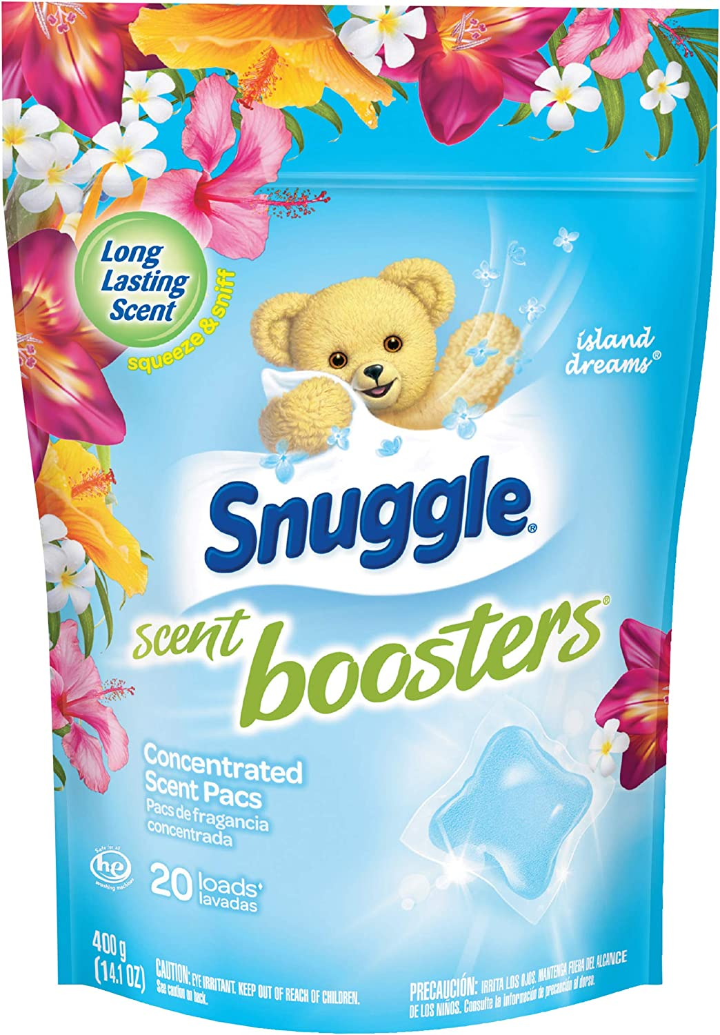 Snuggle Scent Boosters in-Wash Laundry Scent Pacs, Island Dreams, 20 Count