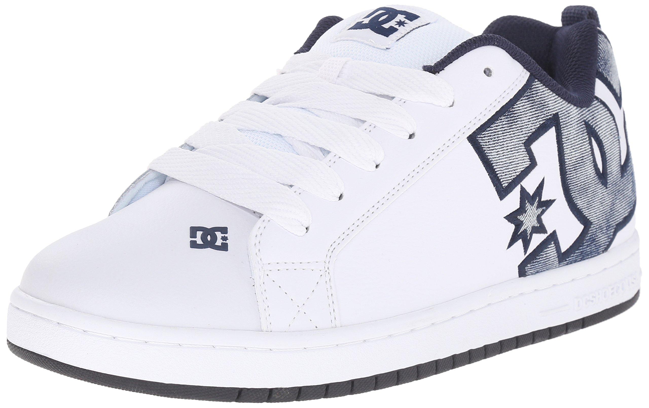 DC Men's Court Graffik SE Skate Shoe,Denim,18 M US
