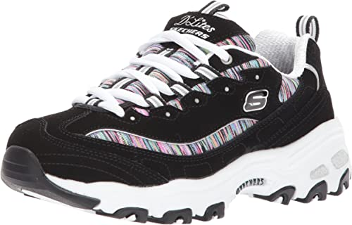 Details about Skechers Dlites March Forward Womens White Black Sneaker Platform show original title