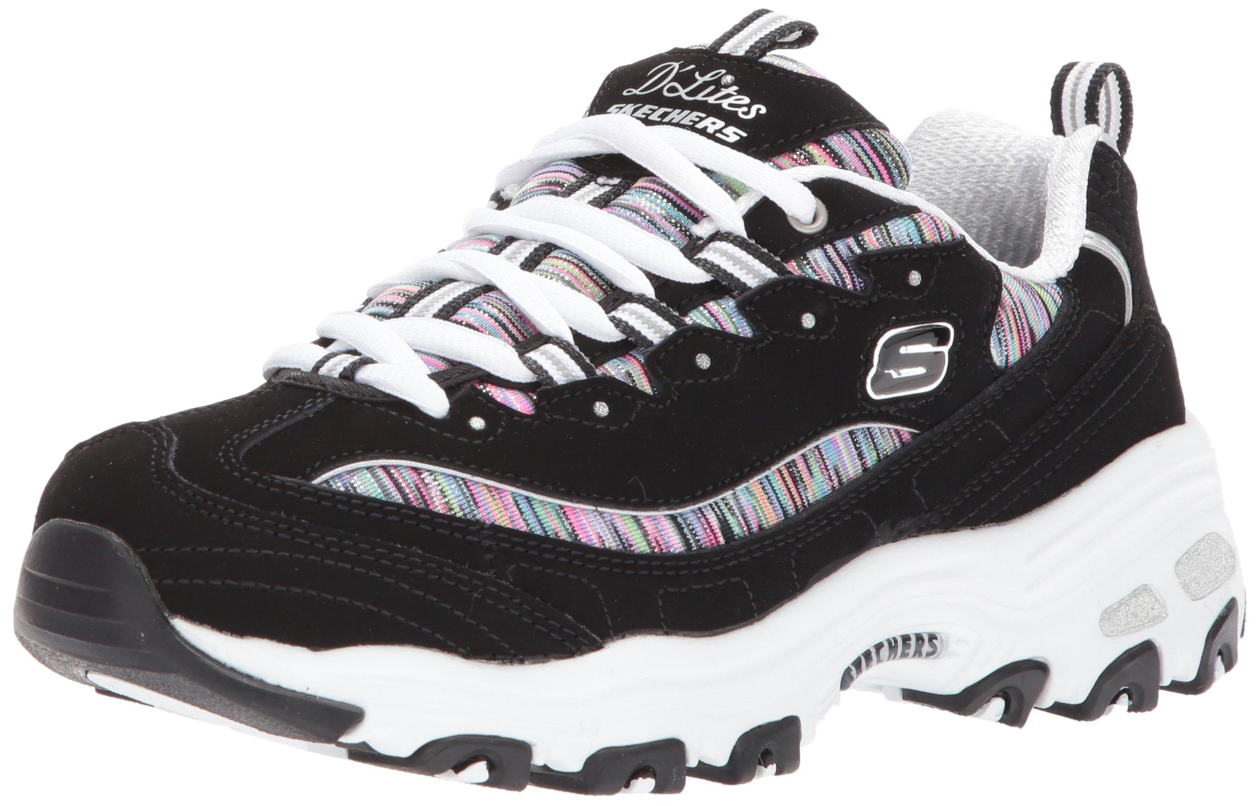 Skechers Sport Women's DLites Interlude Sneaker,Black/Multi,9 W US