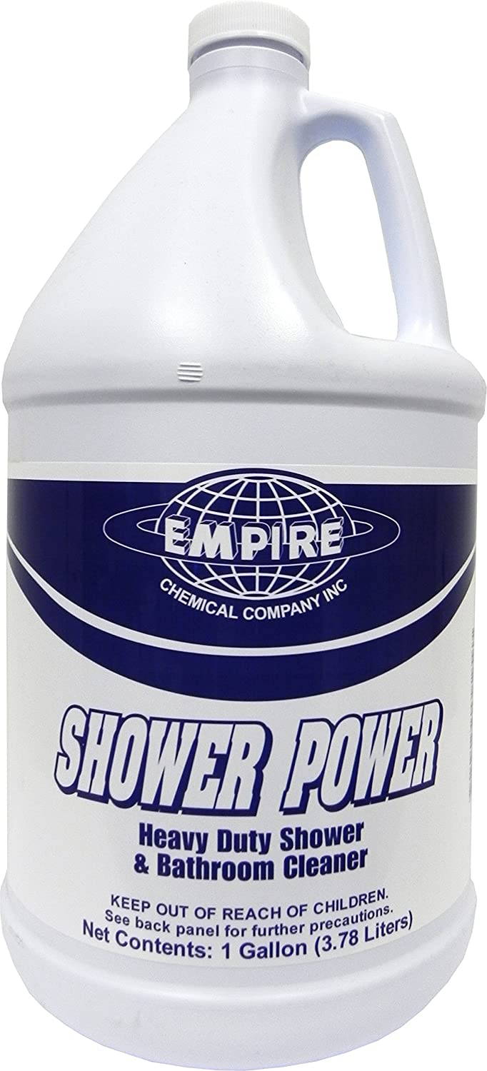 Shower Power - Powerful Bathroom Cleaner From Concentrate - Tub and Shower Cleaner - Cleans Tubs, Toilets, Urinals, Fixtures & More-1 Gal. Empire Cleaning Supply