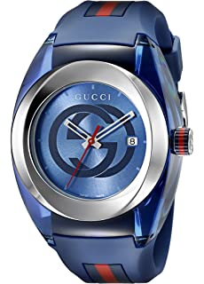 3160ed932c2 Gucci SYNC XXL YA137101 Stainless Steel Watch with Black Rubber ...