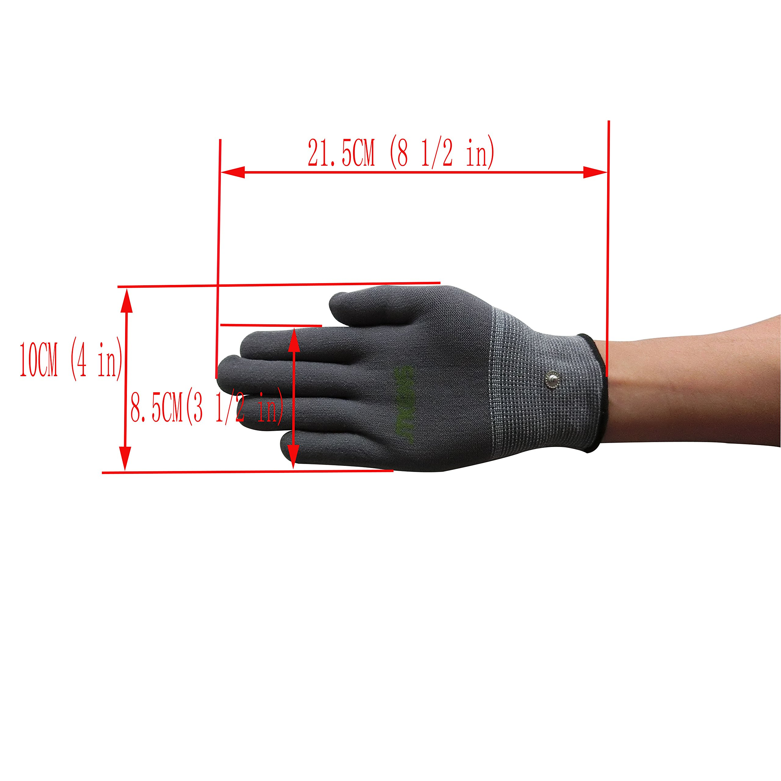 JTKENS Conductive Massage Electrode Gloves For TENS/EMS Machines, To Relief the Pain Arthritis Electrotherapy (M)