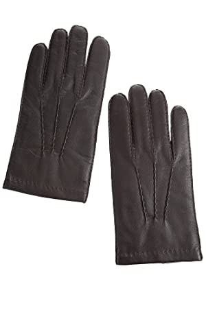 Men's Dents Shaftesbury Touch Classic Cashmere-Lined Leather Gloves, BROWN, Size LARGE (9.5-10