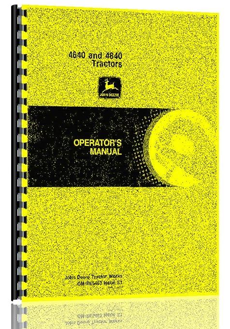 amazon com john deere 4640 4840 tractor operator manual automotive rh amazon com John Deere 4960 John Deere 4850