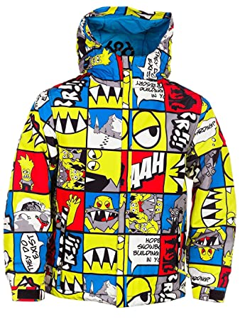 Snow Jacket Kids 686 Snaggle Strip Insulated Boys Amazoncouk Sports Outdoors
